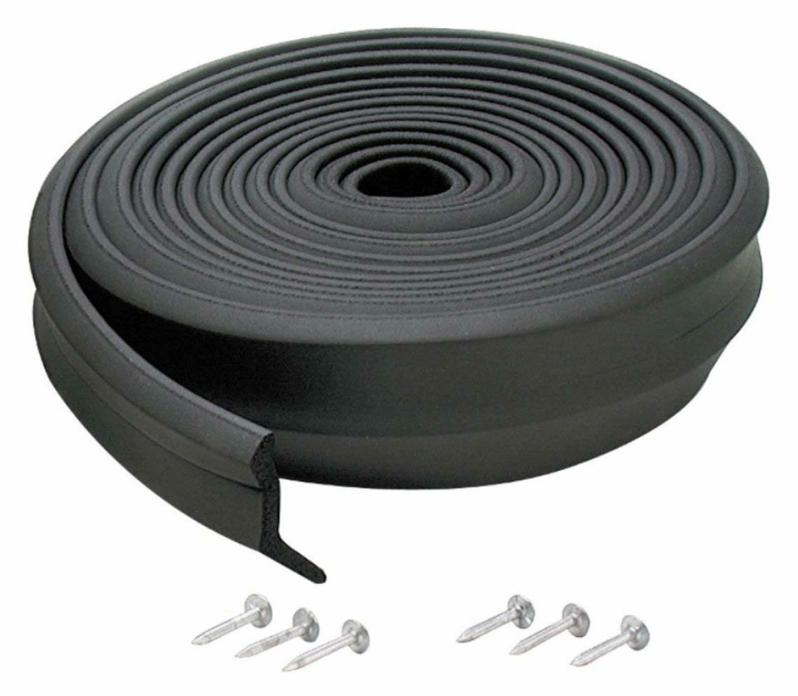 Garage Door Weather Seal 9 Ft Stripping Bottom Garage Door Rubber Seal Black Ebay