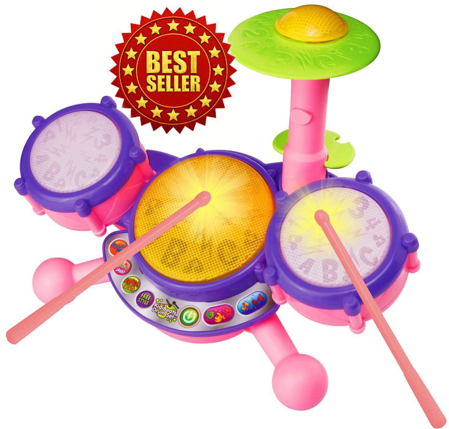 Vtech Kidibeats Pink Exclusive Drum Set Kids Music Girl