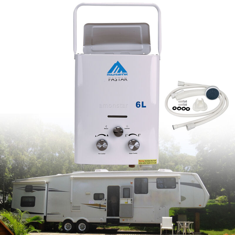 2 Gpm Portable Tankless Hot Water Heater Rv39s Campers