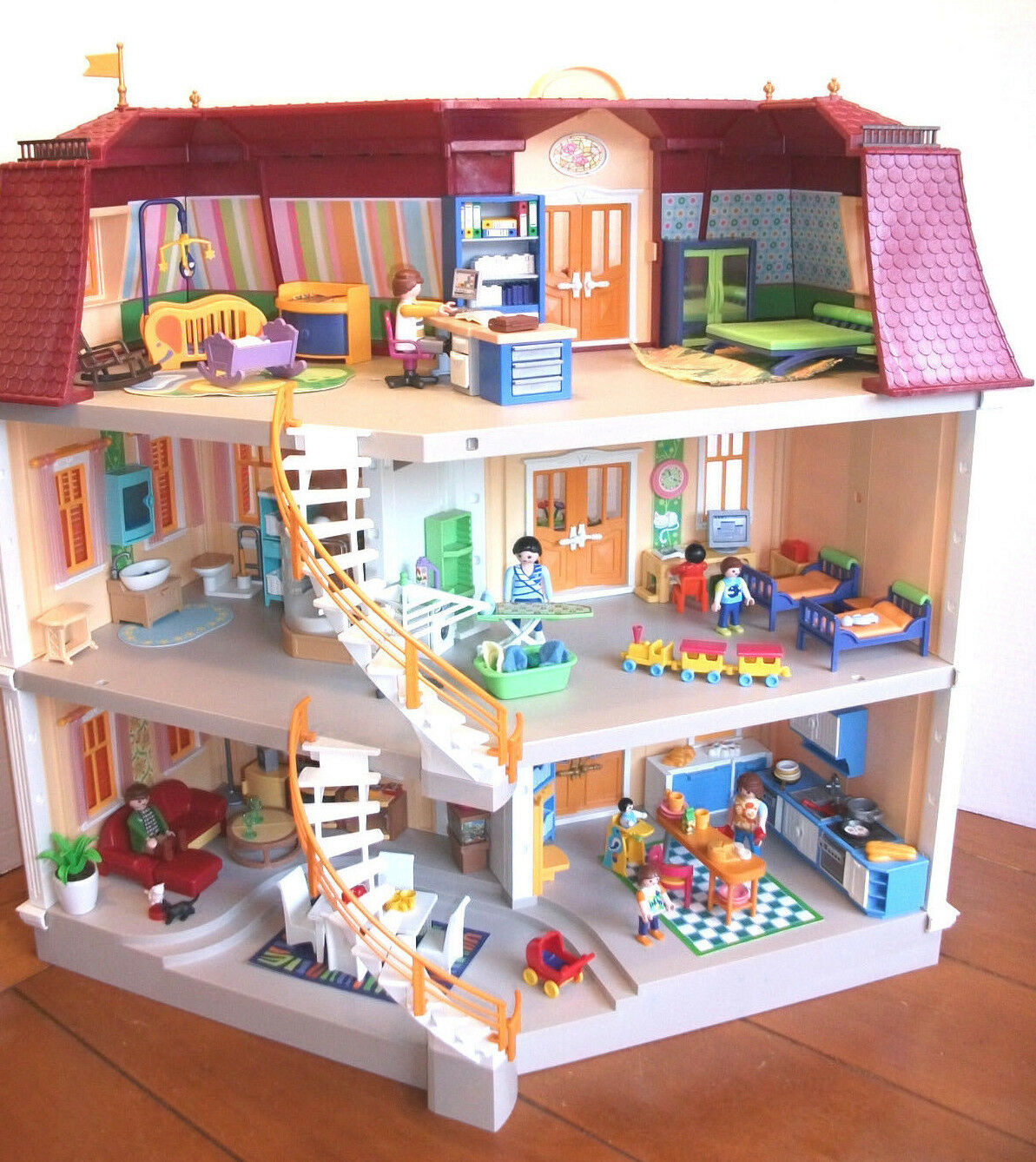5302 Playmobil Playmobil 5302 Large Grand Mansion Dollhouse With Lots Of Furniture