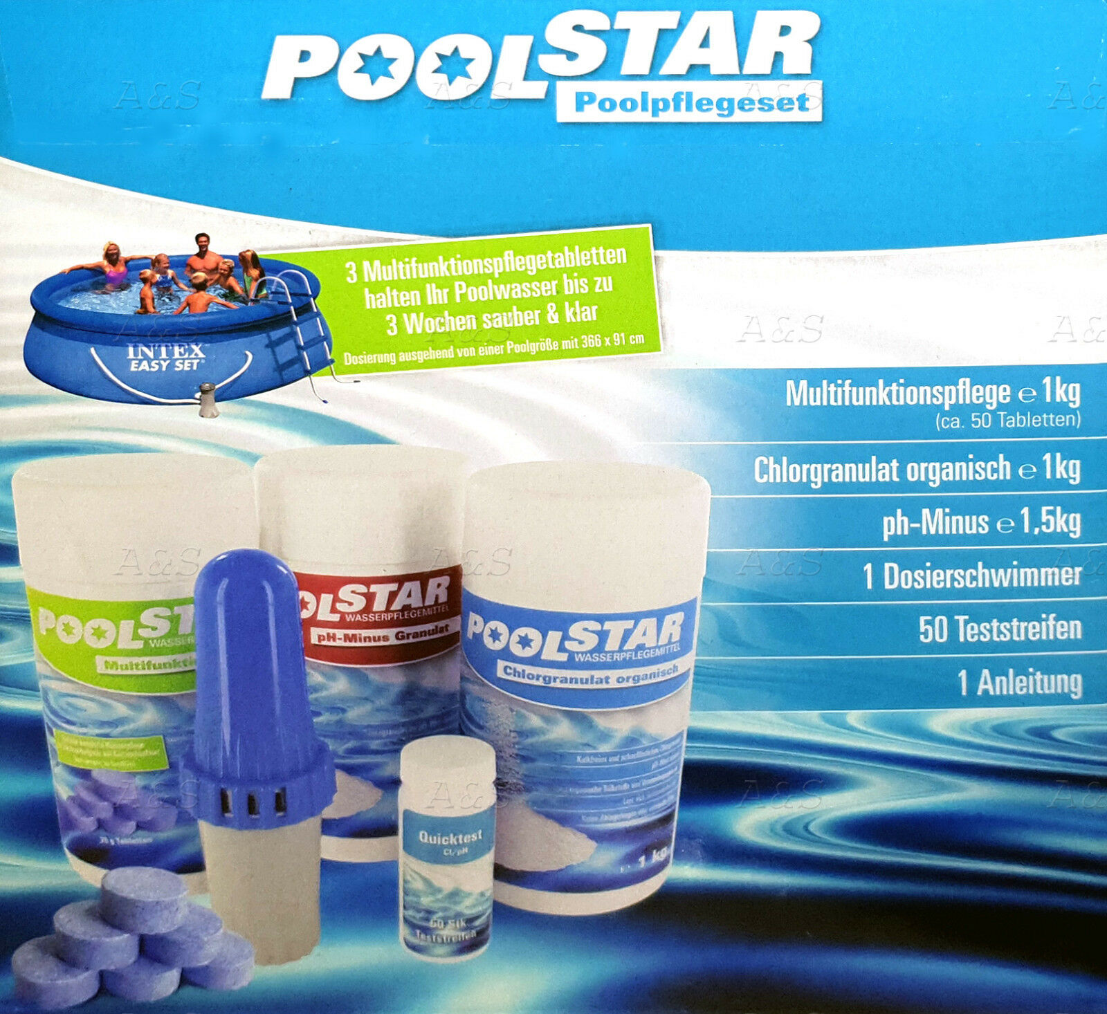 Pool Pflege Chlor Pool Starter Set Pool Starter Kit 5in1 Pool