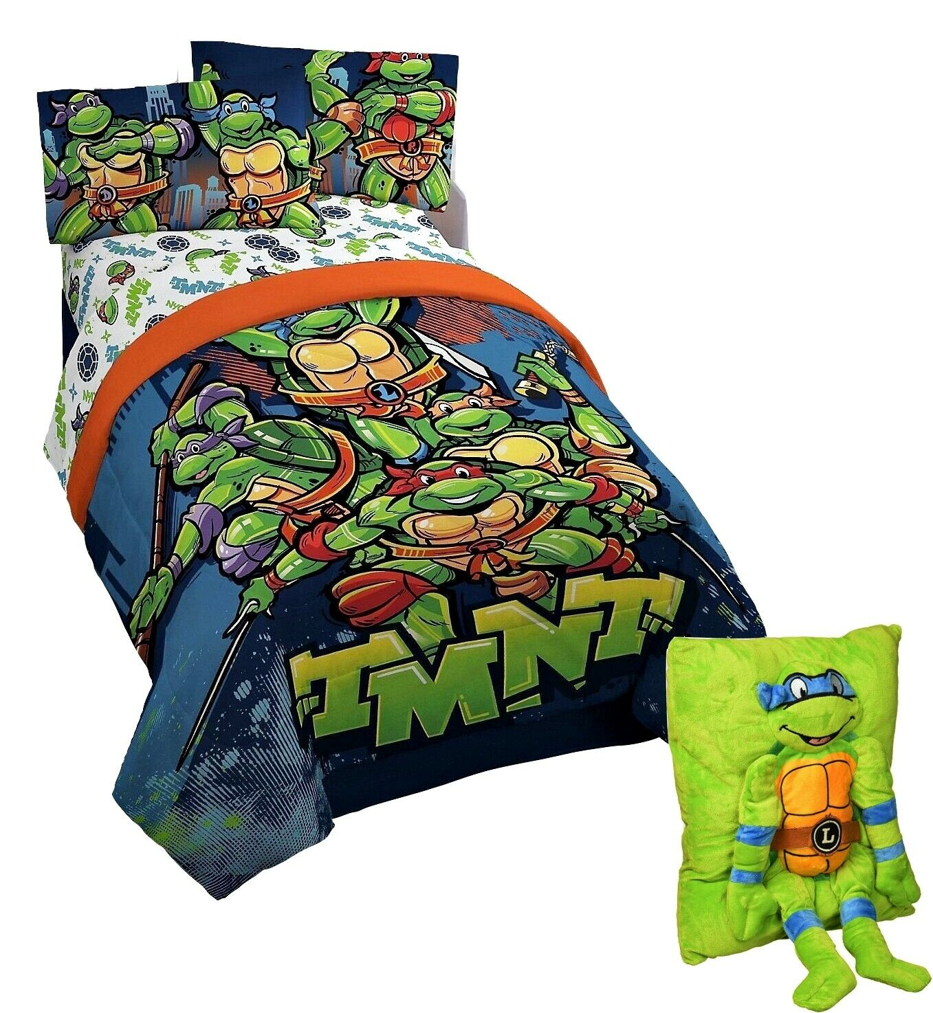 Bettwaren Wäsche Matratzen Single Bed Duvet Cover Set Teenage Mutant Ninja Turtles Green Blue Orange Kids Maybrands Com Ng