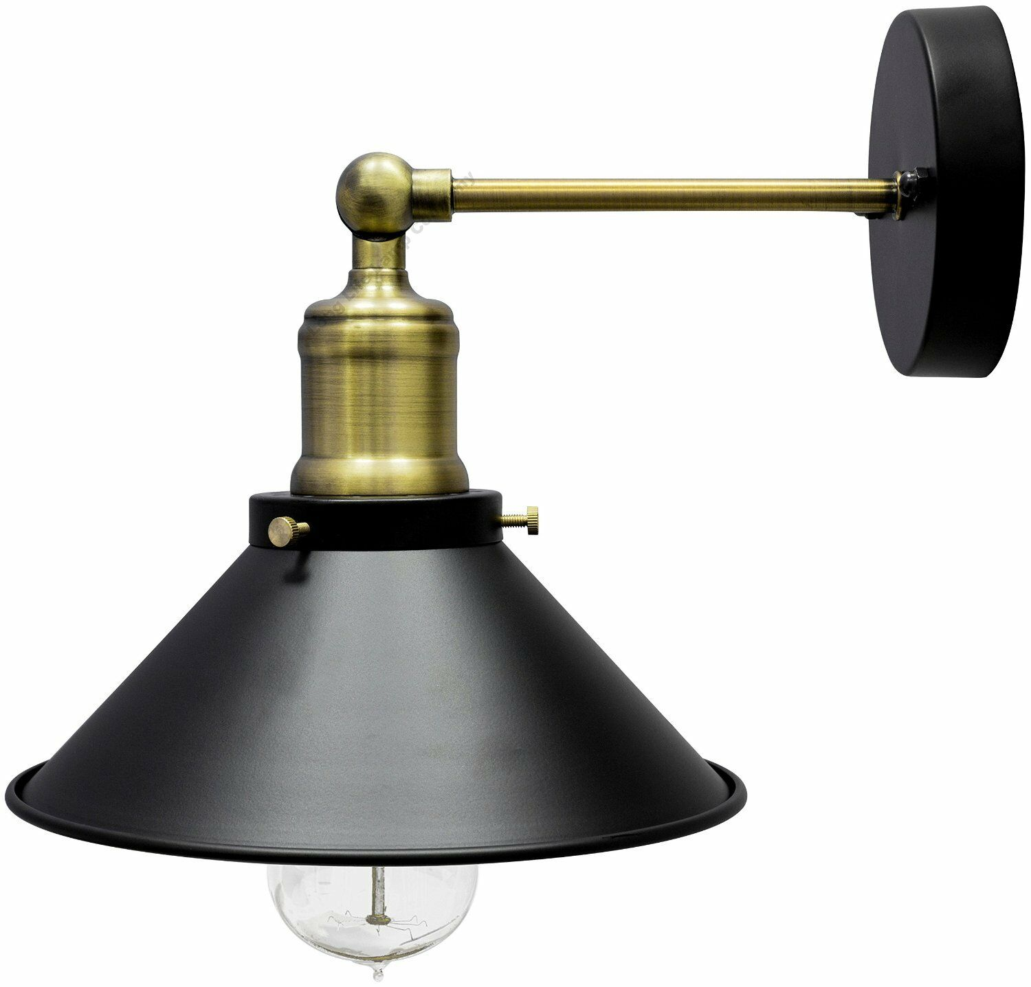 Modern Vintage Lights Modern Vintage Industrial Antique Brass Black Scone Wall