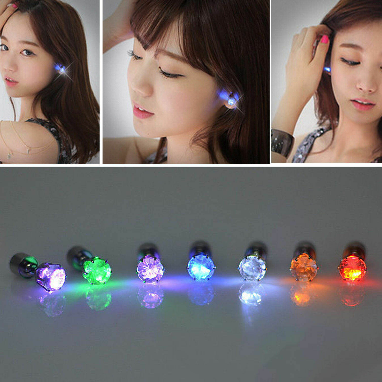Led Earrings Details About New Charm 2pc Led Earrings Light Up Glowing Crystal Ear Drops Nice Party Jewelry