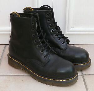 Dr Doc Martens Industrial Steel Toecap 7 Eyelet Boots Uk