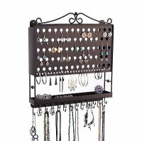 Wall Jewelry Organizer - Earring Holder & Necklace Rack ...