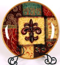 Elegant Fleur De Lis Ceramic Decorative Plates   eBay