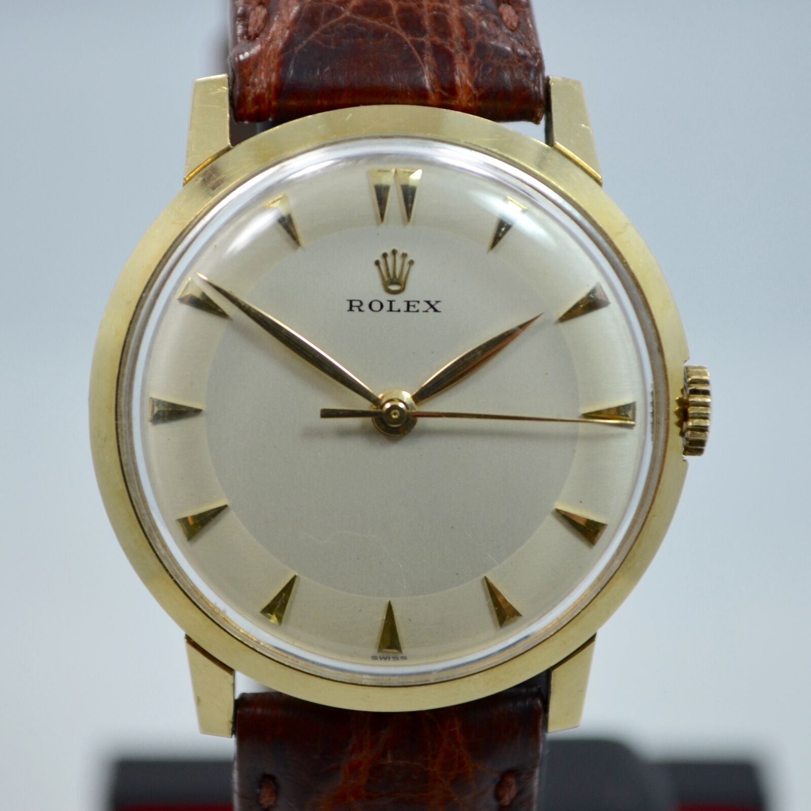 Vintage Rolex Watches Vintage Rolex 14k Yellow Gold Dress Formal Silver Dial