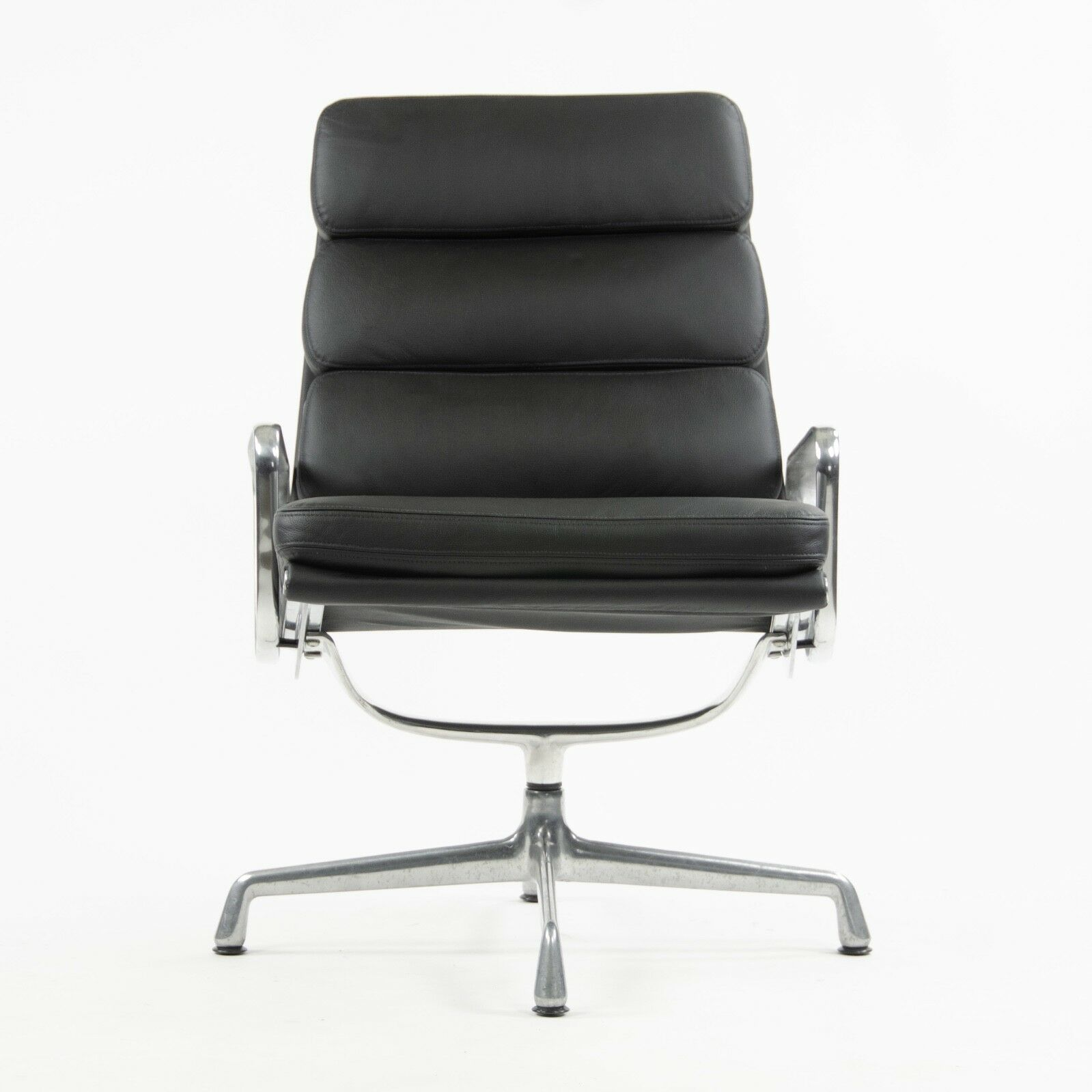 Eames Chair Herman Miller Ebay Details About Vintage Eames Herman Miller Soft Pad Aluminum Group Lounge Chair Black