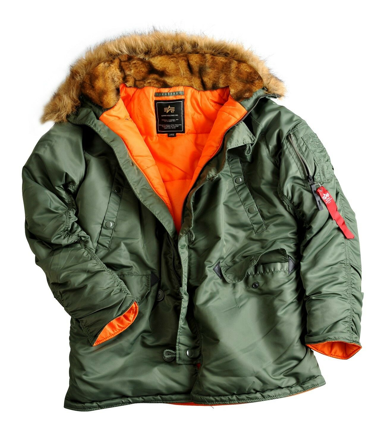 Klamotten Box Alpha Industries N3b Vf59 Mens Winter Jacket Parka Coat