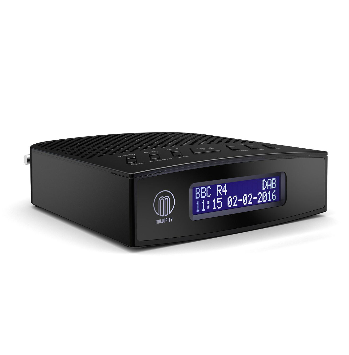 Bedside Alarm Clock Digital Majority Milton Dab Digital And Fm Radio Alarm Clock Black