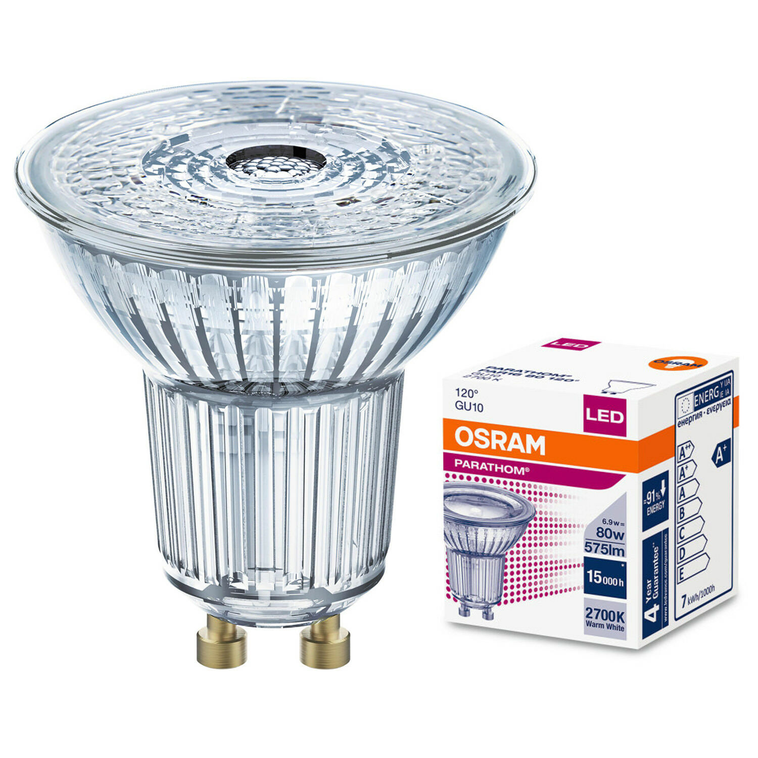 Gu10 C 1x 3x 5x Osram Led Reflector Gu10 Lamps Par16 Cool And Warm