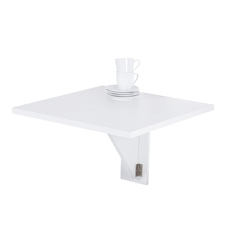 Wandklapptisch weiß  Wandtisch Weiß Schreibtisch Tisch Regal Wandklapptisch Aus-klappbar