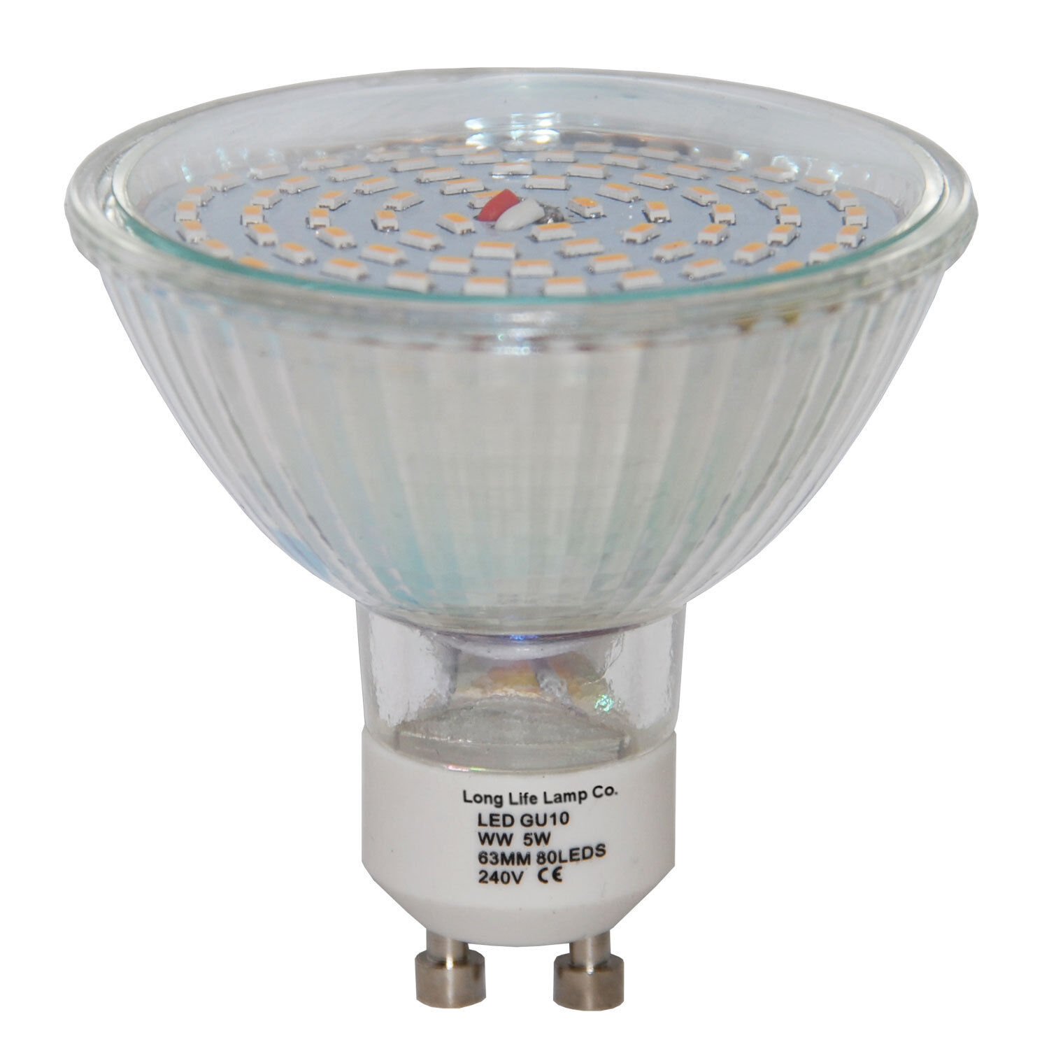 Halogen Gu10 Gu10 Led Replacment Halogen Bulb 63mm 80led 800 Lumens