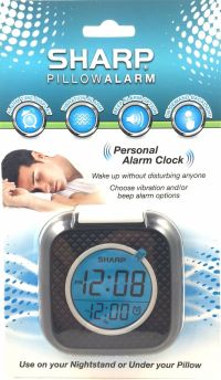 Sharp Alarm Clock, VIBRATING Pillow Alarm SPC562A ...