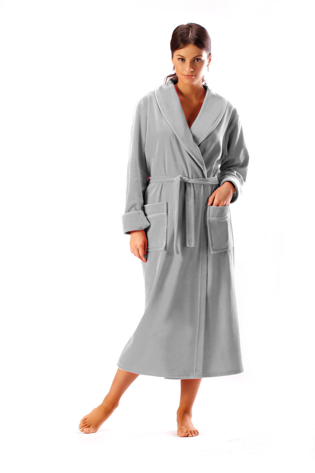 Cotton On Dressing Gown New Women Full Length Cotton Bathrobe Dressing Gown