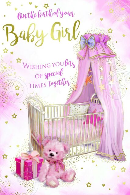 on The Birth of Your Baby Girl Crib Presents Bears  Star Design - Birth Of Baby Girl