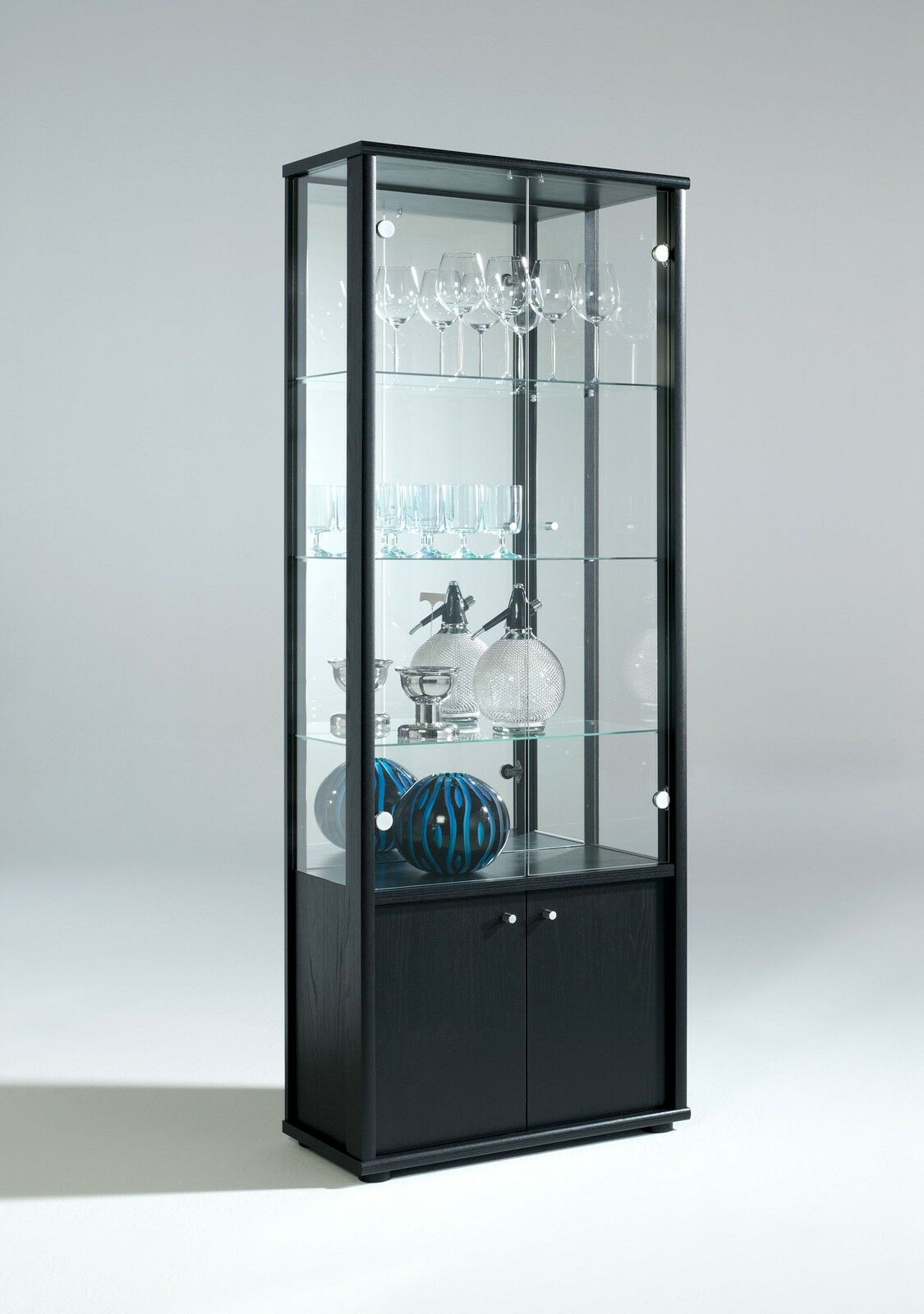 Glass Display Cabinet Living Room Neptune 1 Or 2 Door Glass Display Cabinet With