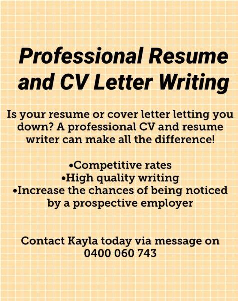 AUSTRALIA WIDE RESUME AND COVER LETTER WRITING - Professional - resume cover letter australia