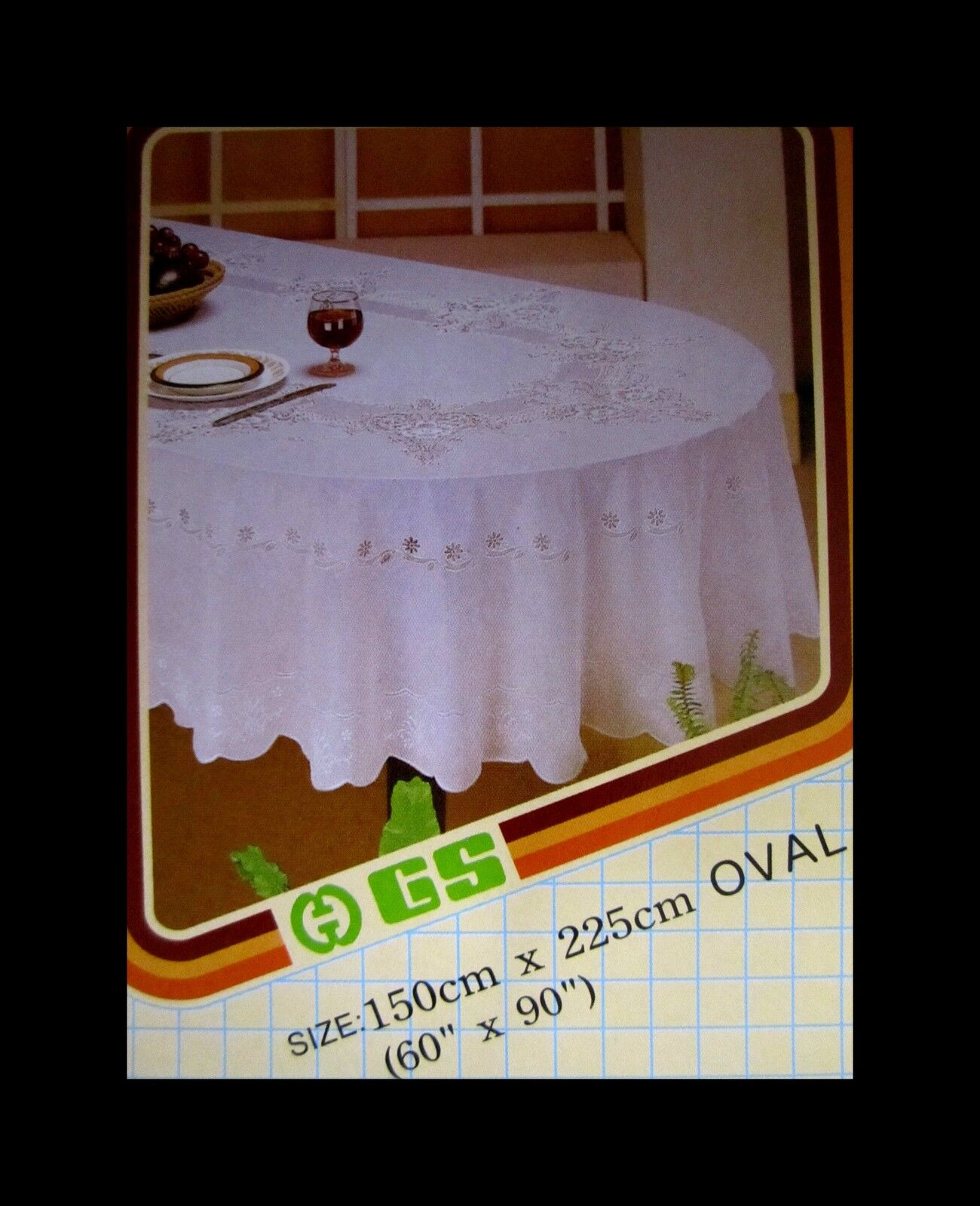 Vinyl Tischdecken Oval Details About 150 X 225 Cm Oval White Vinyl Tablecloth Sheet Flower Pattern New
