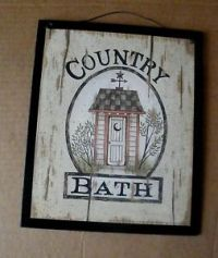 Outhouse Bath Decor | eBay