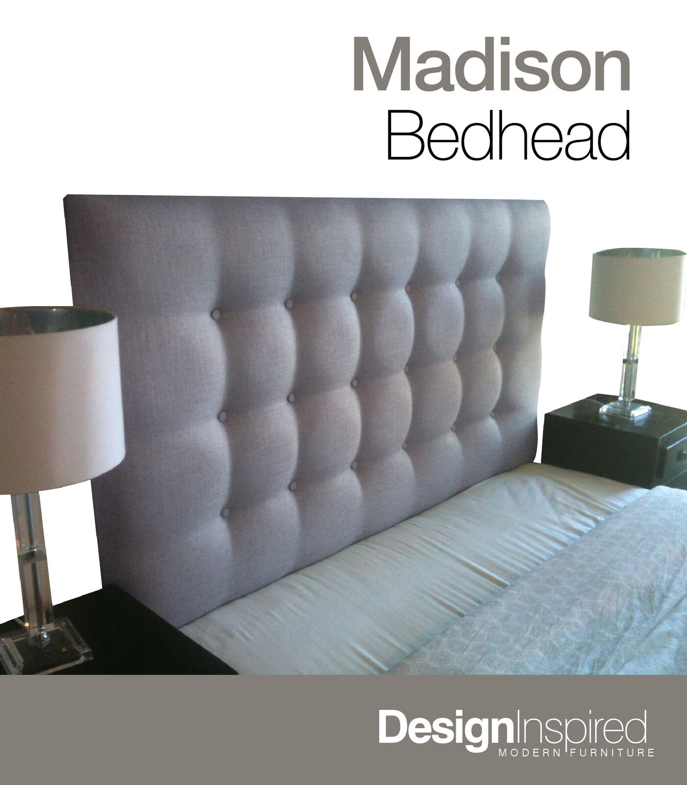 Headboard For Ensemble Madison Deluxe Upholstered Bedhead Headboard For Queen