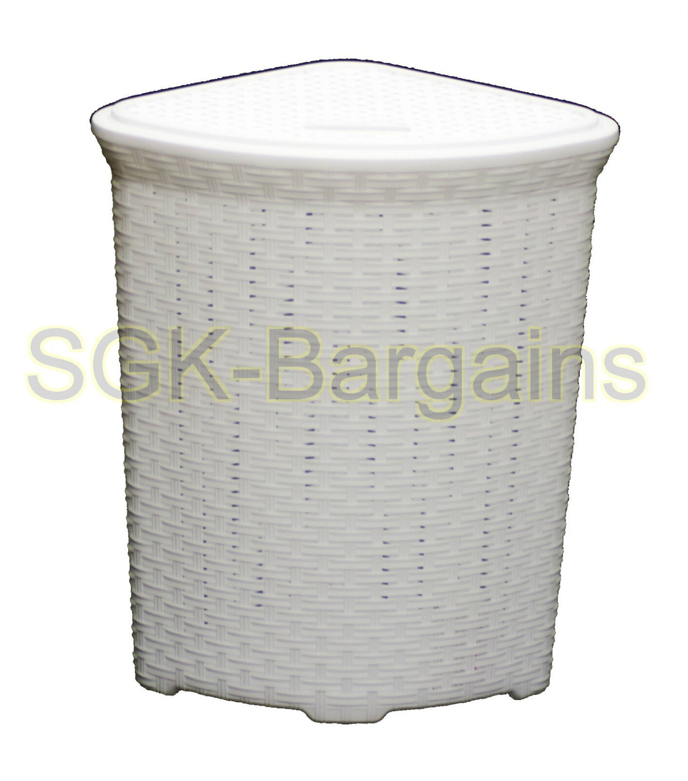 Corner Laundry 52l Large Woven Plastic Corner Laundry Bin Washing Multi