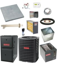 Up-flow_most Complete 96% 80k Btu Gas Furnace & 3-1/2 Ton ...