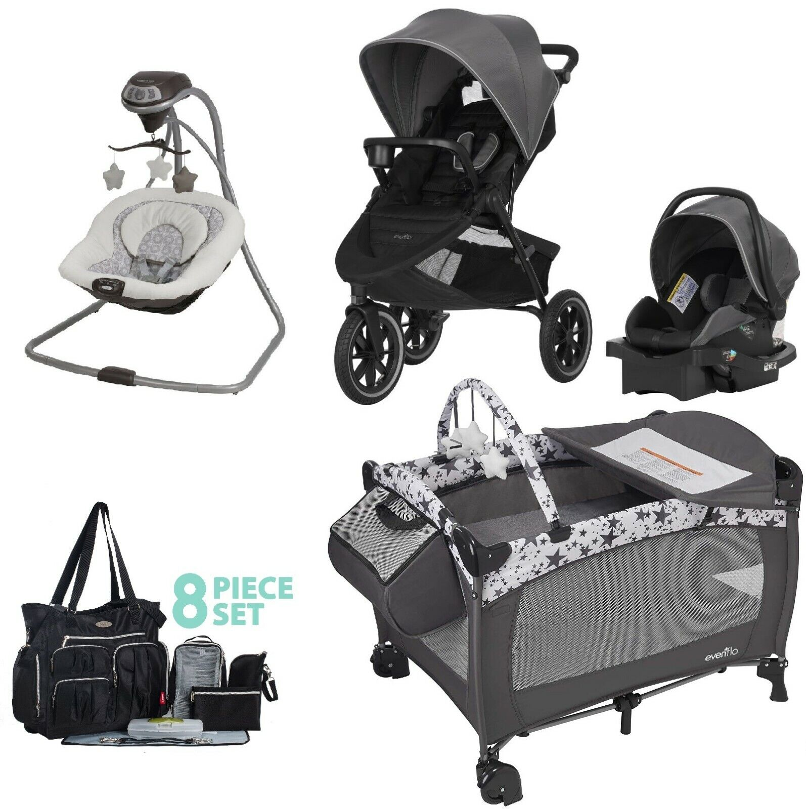 Baby Trend Expedition Travel System With Stroller And Car Seat Electric Lime Lightweight Strollers Strollersi