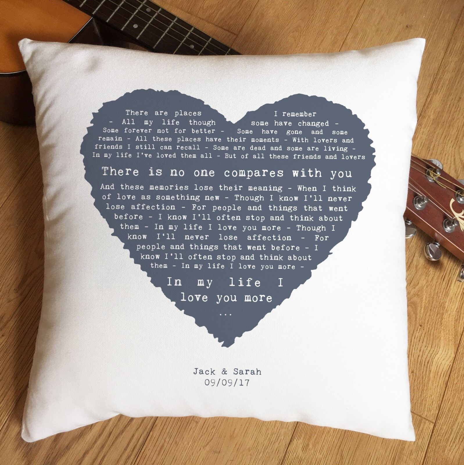 Personalised Anniversary Gift The Beatles In My Life Song Words Lyrics Print