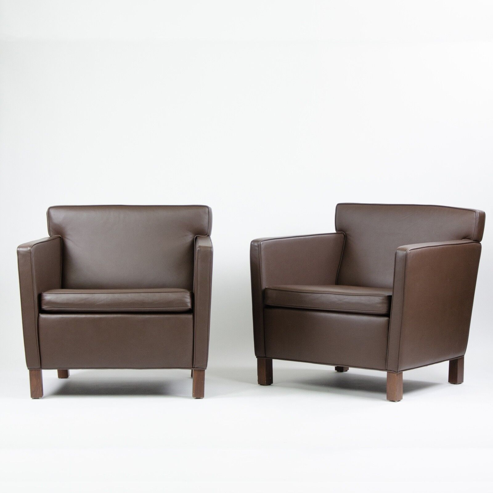 Knoll International Details About Mid 2000 S Knoll International Mies Van Der Rohe Krefeld Lounge Chairs Leather