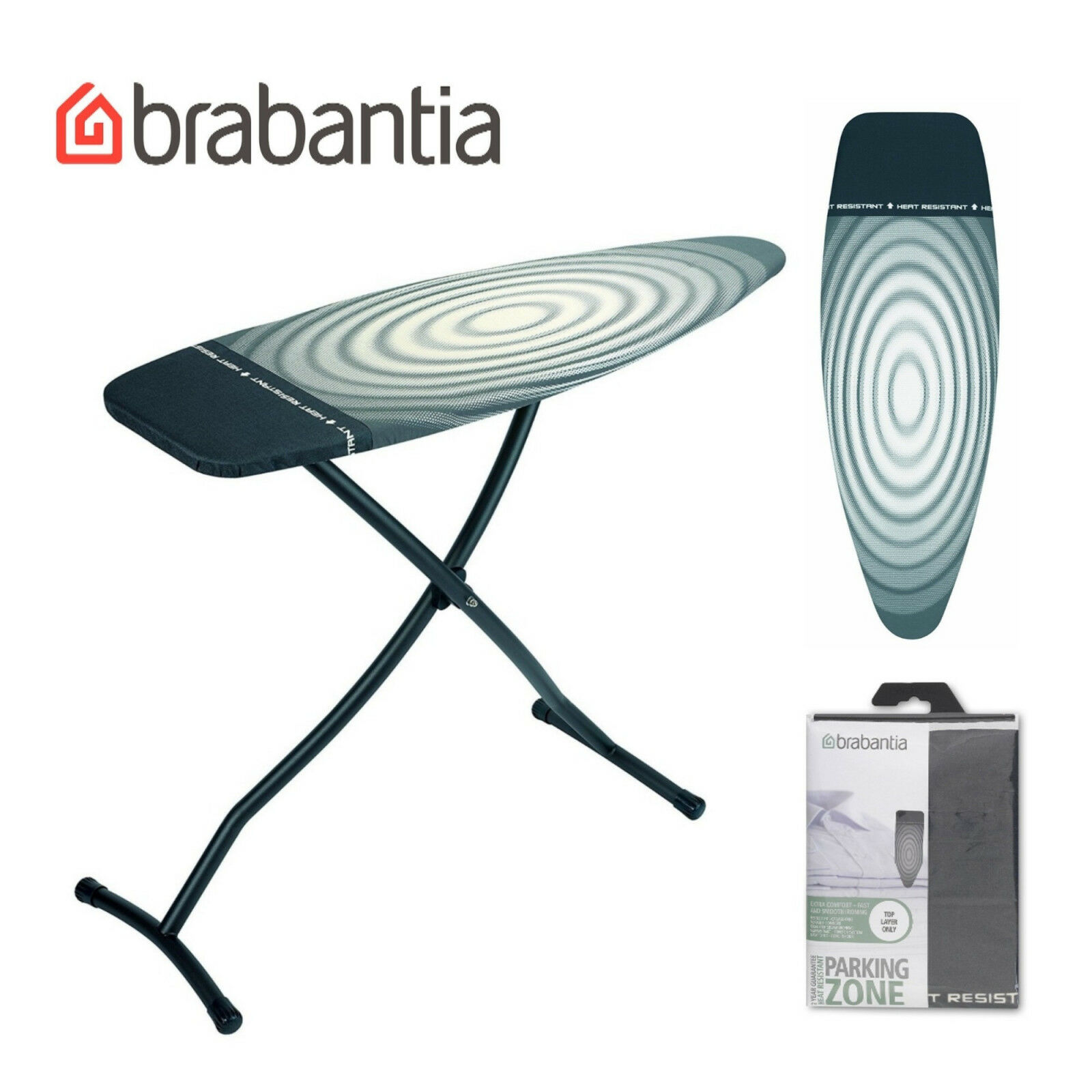 Brabantia Contact Details About Brabantia Ironing Board Oval Cover With Parking Zone Size D Extra Large Titan