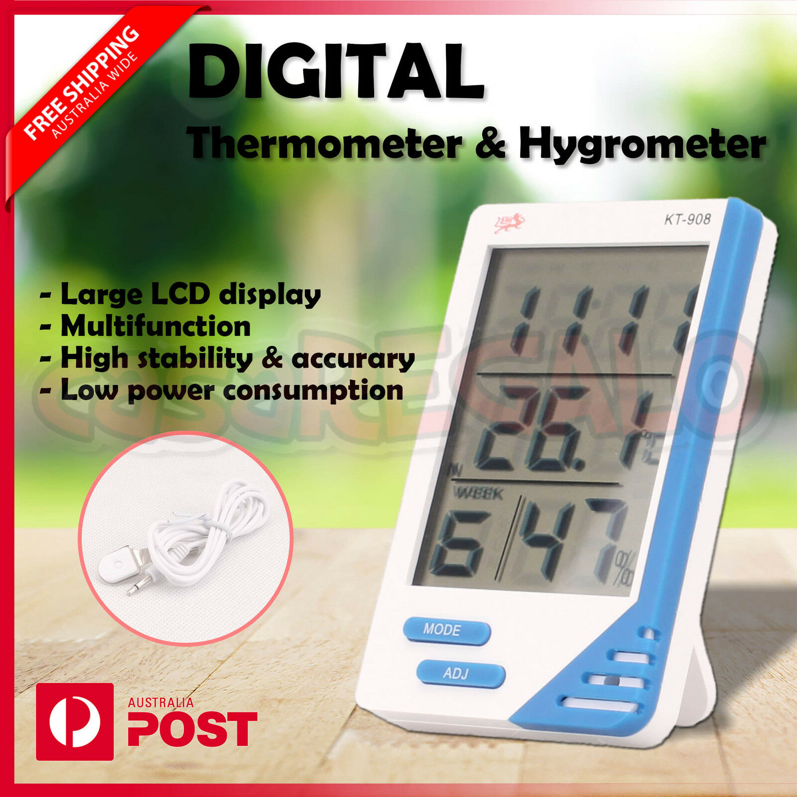 Thermometer Australia Details About Thermometer Hygrometer Indoor Outdoor Temperature Humidity Meter Digital Week
