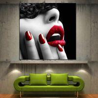 Wall-Art-Canvas-Print-Red-Lips-Modern-Home-Fine-Photo ...