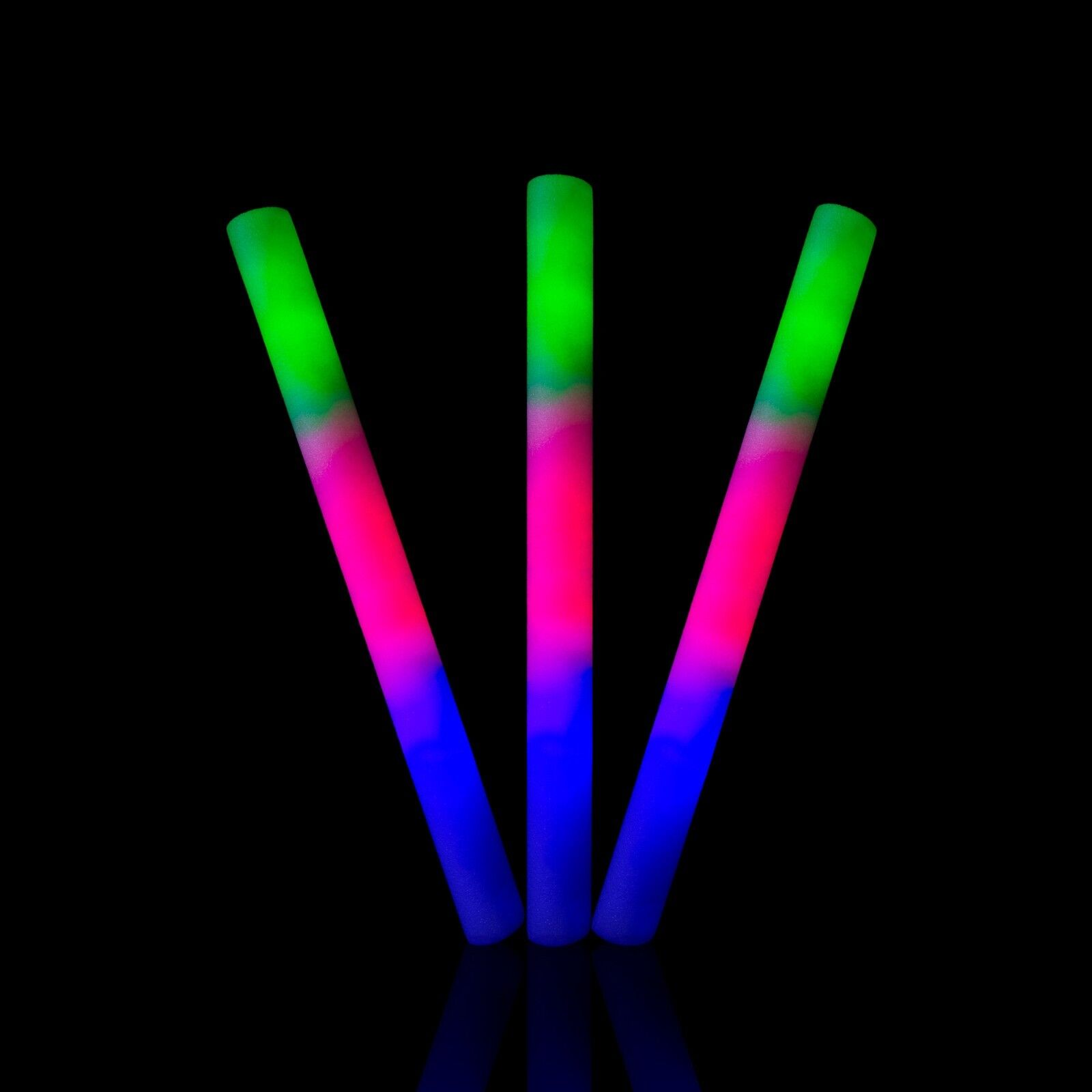 Led Glow Sticks Details About 12 Pcs Light Up Flashing Led Glow Stick Foam Wands Rave Dj Batons Rally Concert
