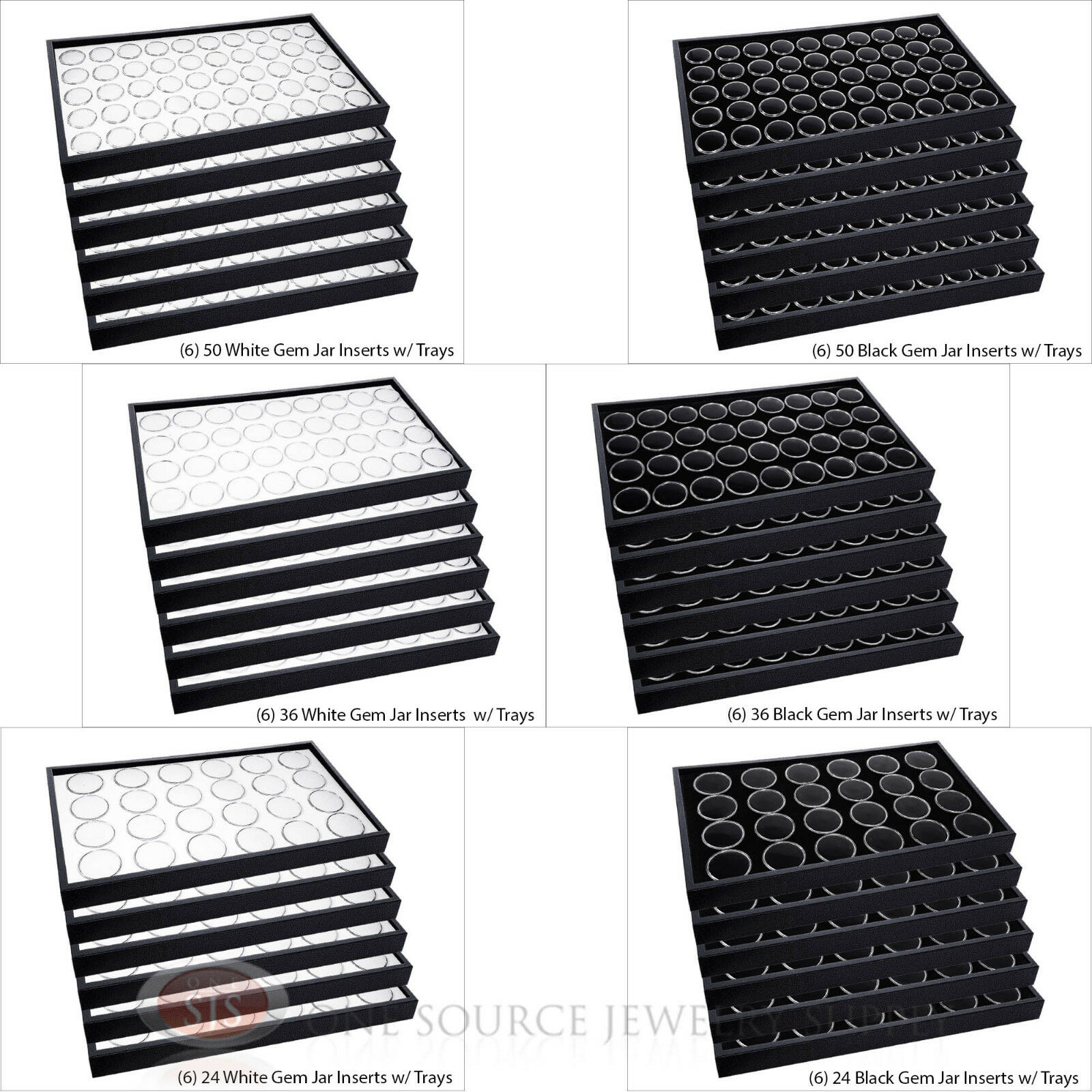 plastic stackable trays black 55221