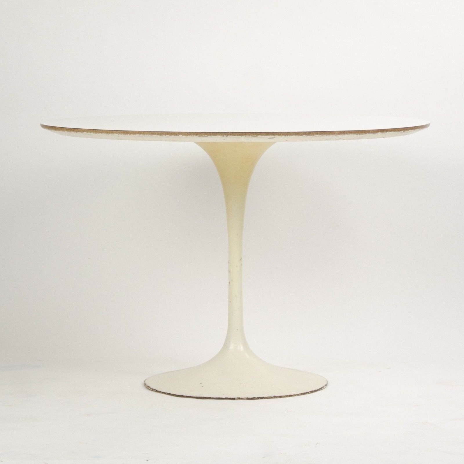 Saarinen Knoll Table Details About 1960 S Eero Saarinen For Knoll 42 Inch Tulip Cafe Dining Table Marked