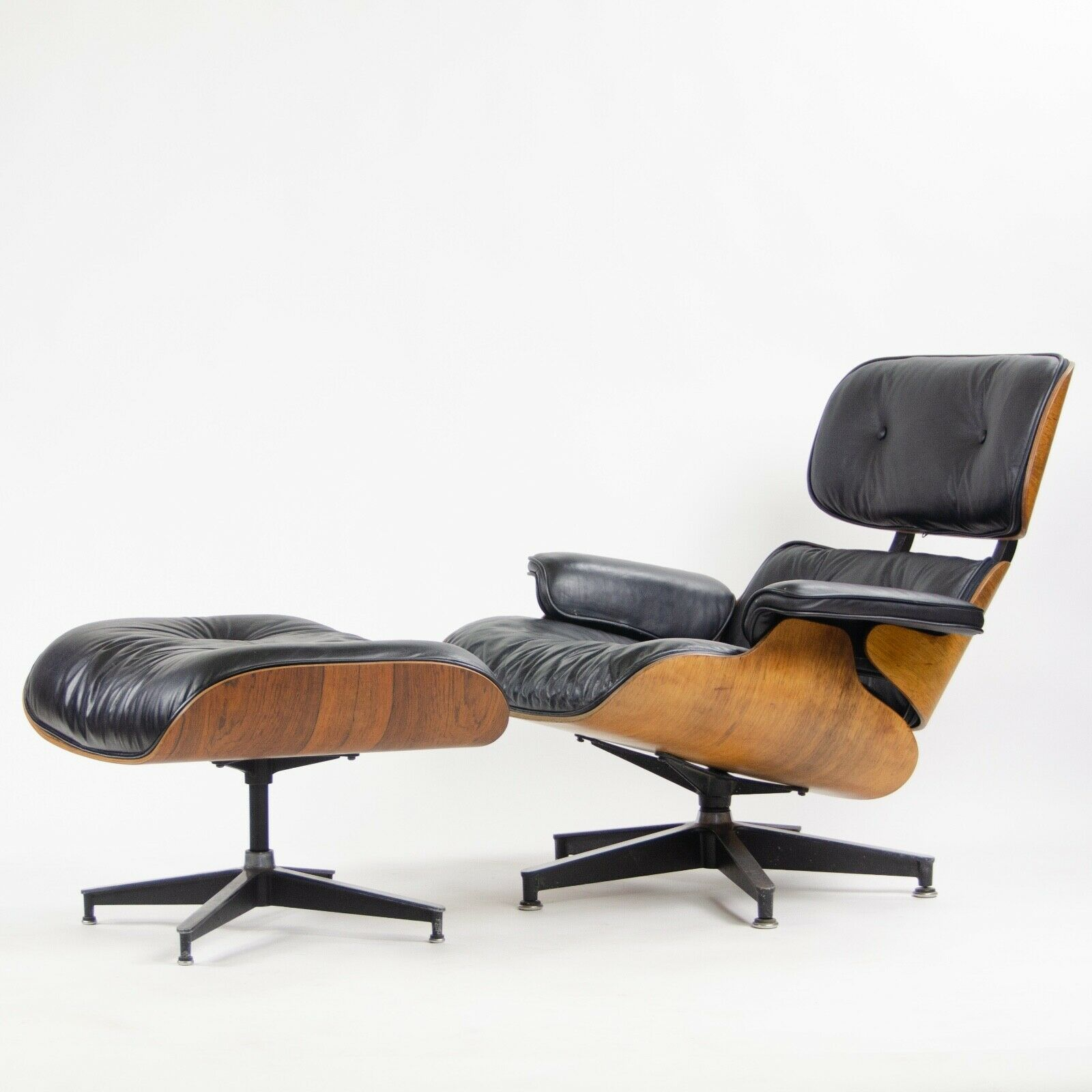 Eames Chair Herman Miller Ebay Details About 1960 S Herman Miller Eames Lounge Chair Ottoman Rosewood 670 671 Black Leather
