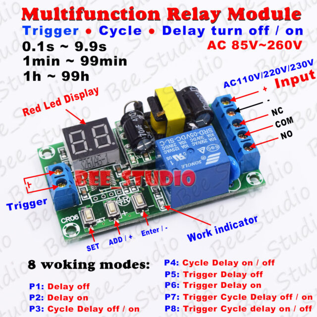 110 Schematic Wiring Instruction Ac 110v 220v 230v Digital Led Trigger Cycle Delay Turn On
