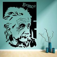 ALBERT EINSTEIN E=mc2 VINYL WALL ART STICKER MURAL DECAL ...