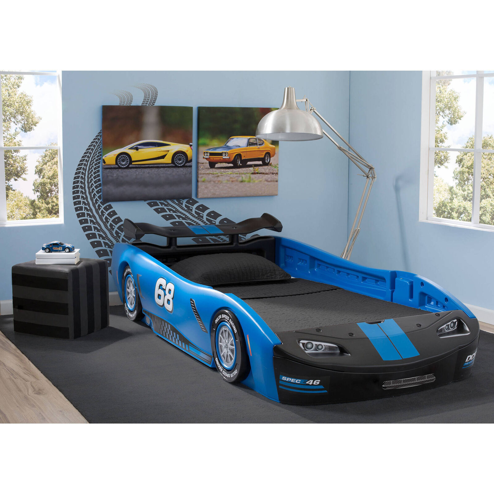 Best Boys Beds Twin Size Race Car Bed Turbo Sleek Kids Toddler Bedroom Furniture Nascar Unisex