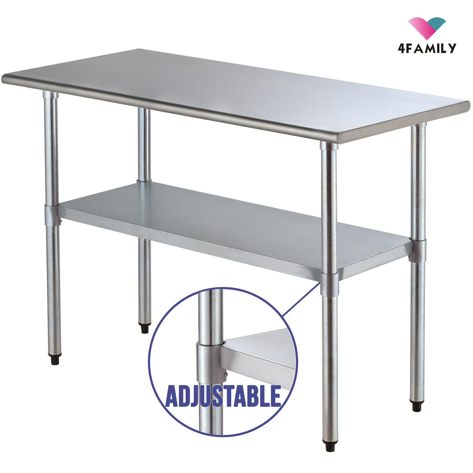 Stainless Restaurant Table Detalles Acerca De 24