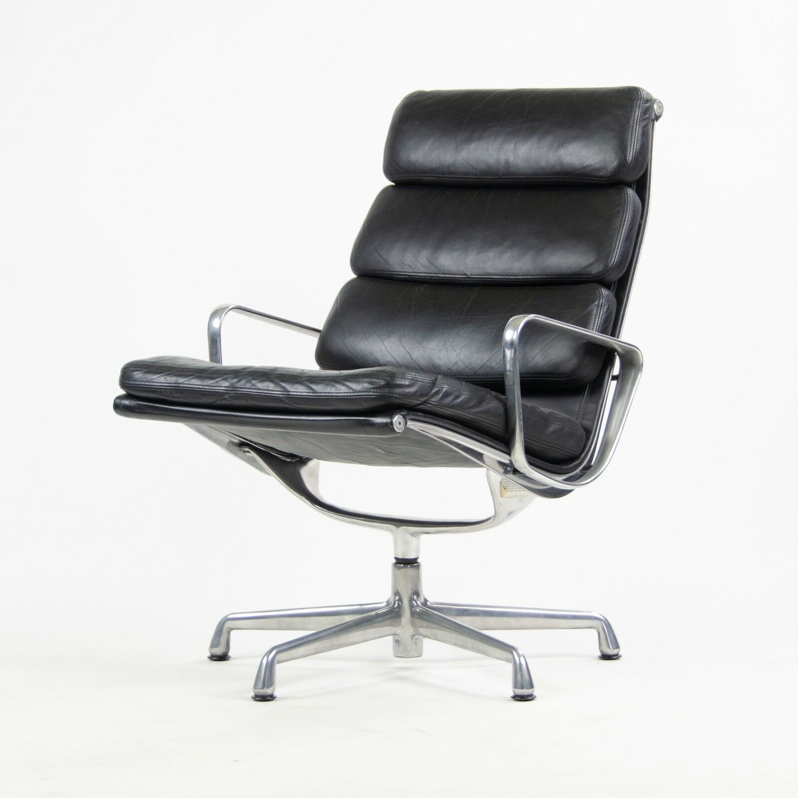 Eames Chair Herman Miller Ebay Details About Eames Herman Miller Soft Pad Aluminum Group Lounge Chair Black Leather 2x Avail