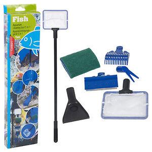 Aquarium 5in1 Cleaning Tool Set Fish Tank Maintenance Algae Cleaner