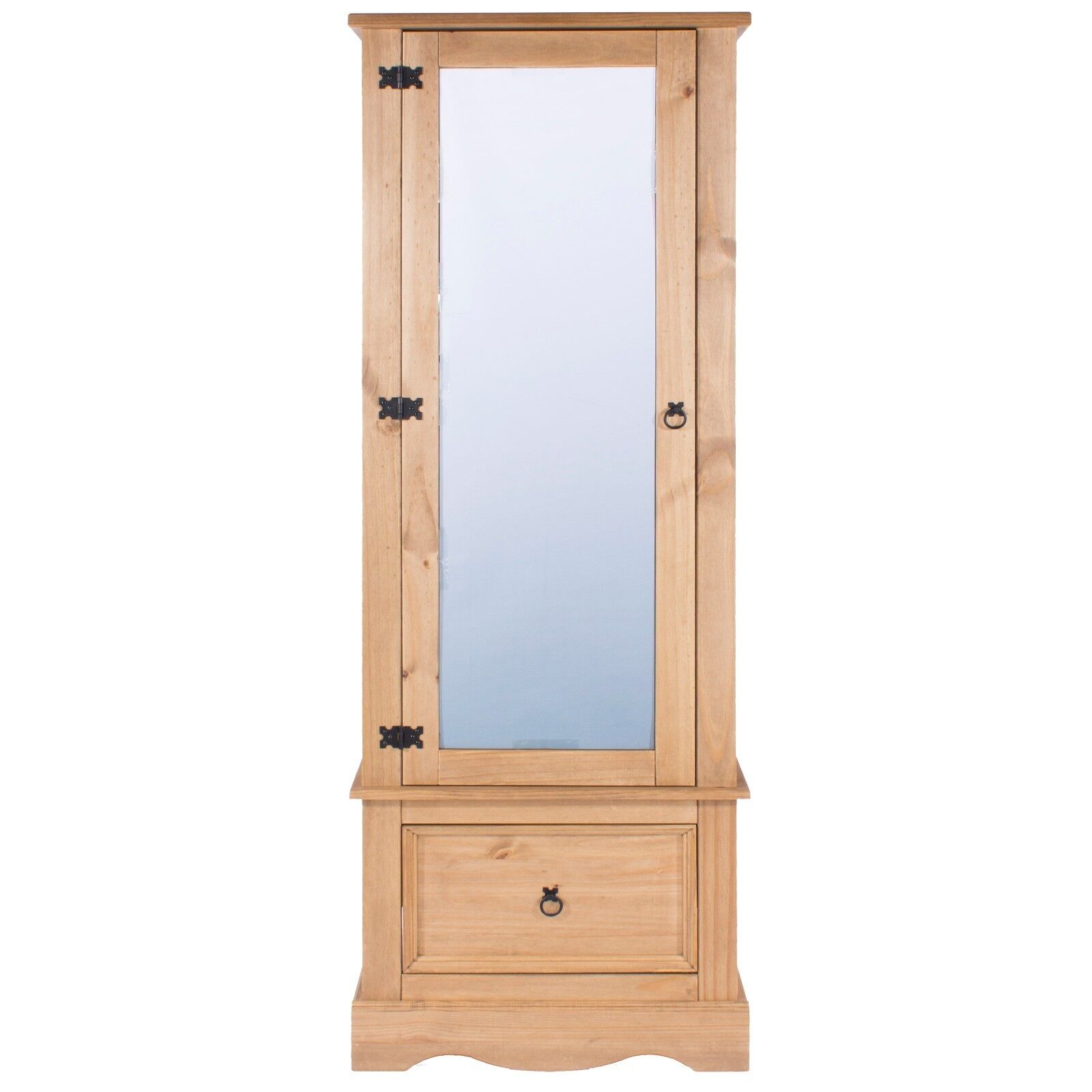 Armoire Habits Details About Corona 1 Mirrored Door Armoire Wardrobe 1 Drawer Solid Medium Wood Mexican Pine