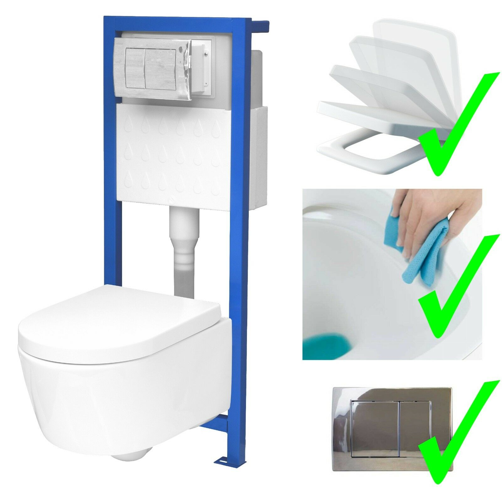 Trennwand Wc Urinal All In One Lavita Vorwandelement Wand Wc Ohne Spülrand Wc Sitz Soft Close