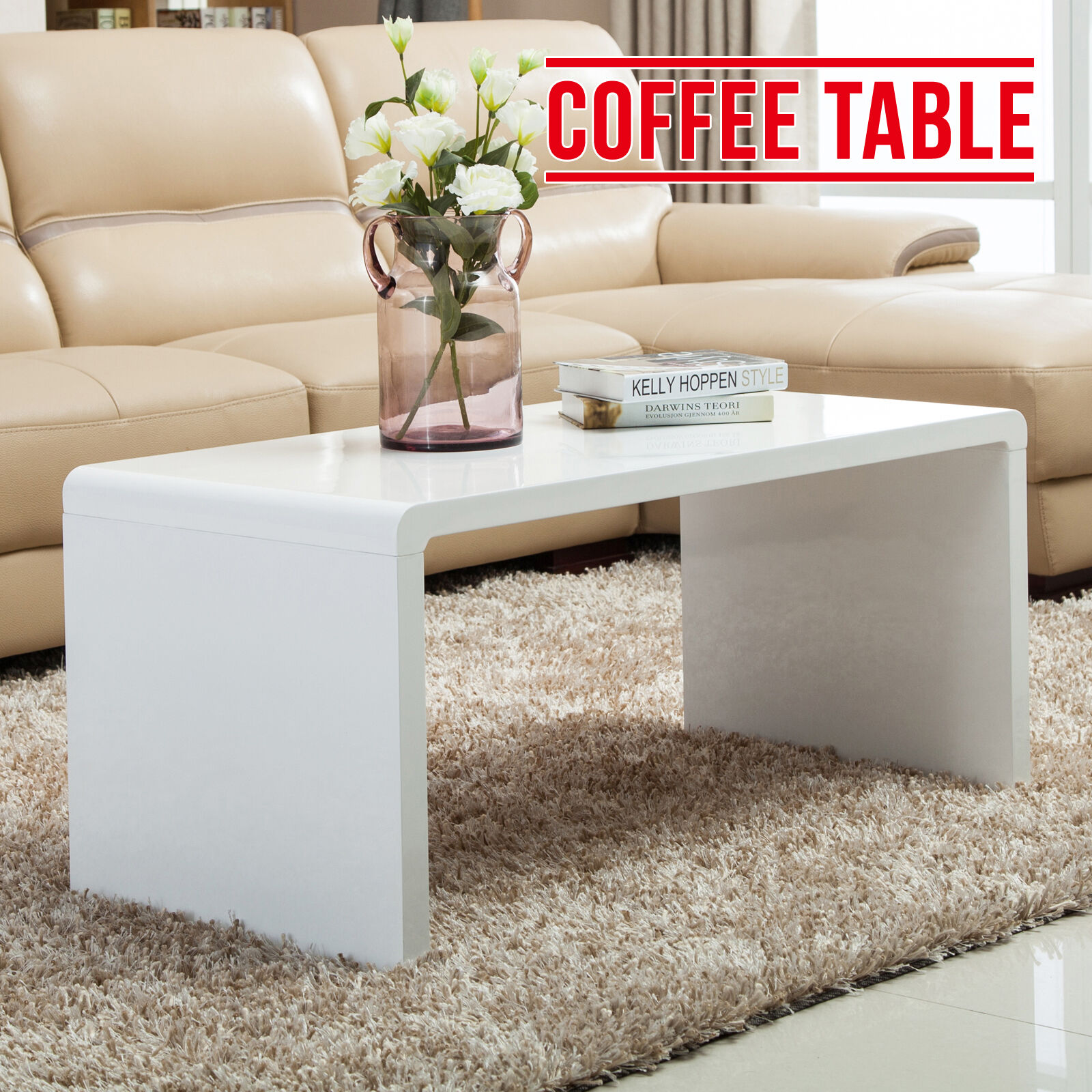 High End Coffee Tables Living Room Modern High Gloss White Coffee Table Side End Table Living