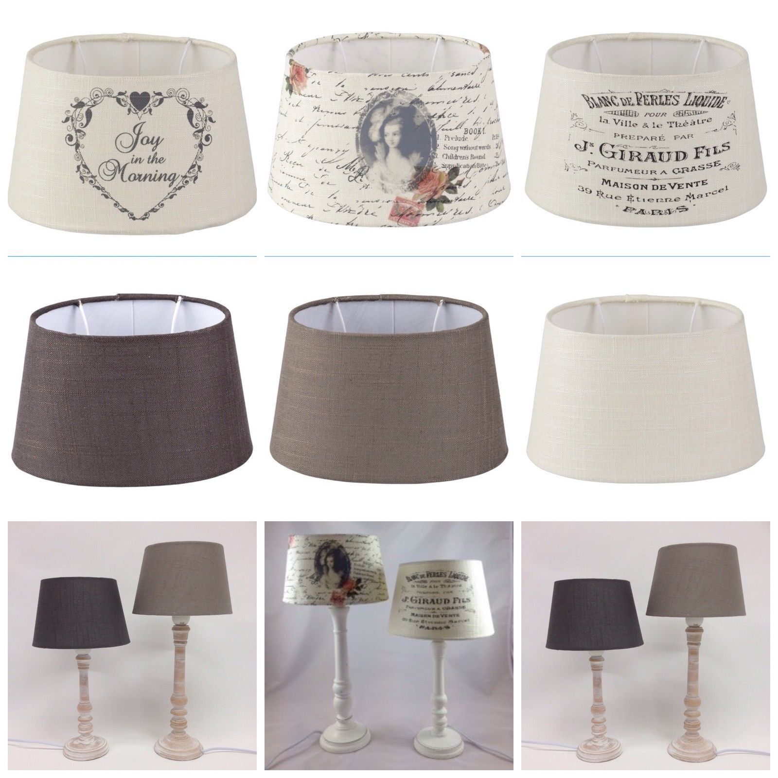 Lampenschirm Vintage Lampenschirm Stoff Textil Shabby Chic Vintage Lampshade