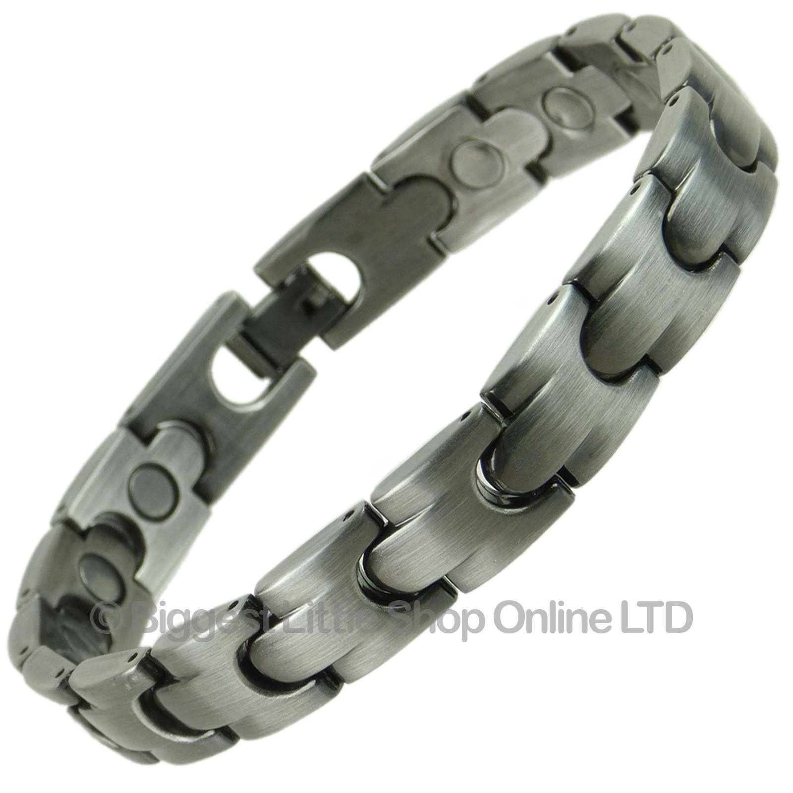 Unisex Stylish Magnetic Bracelet Pewter Finish Magnet