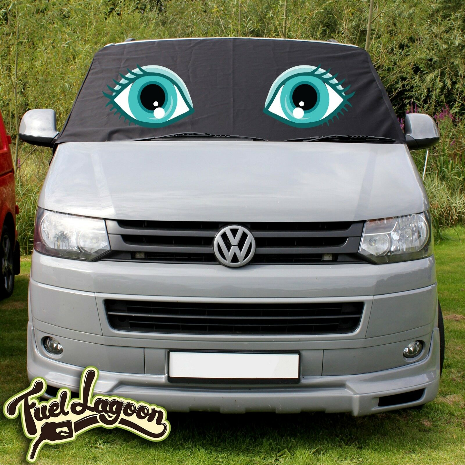 Vw Transporter T5 Window Screen Protector Covers Black Roller Blind Eyes Ebay - Vorhang Befestigung T5
